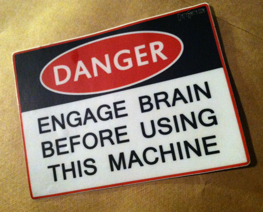 Engage brain sticker